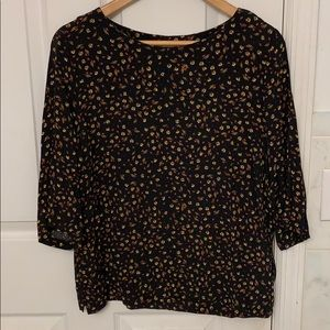 H&M fall leaf floral top size 10